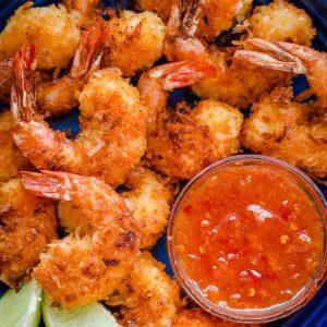 camarones-al-coco-con-salsa